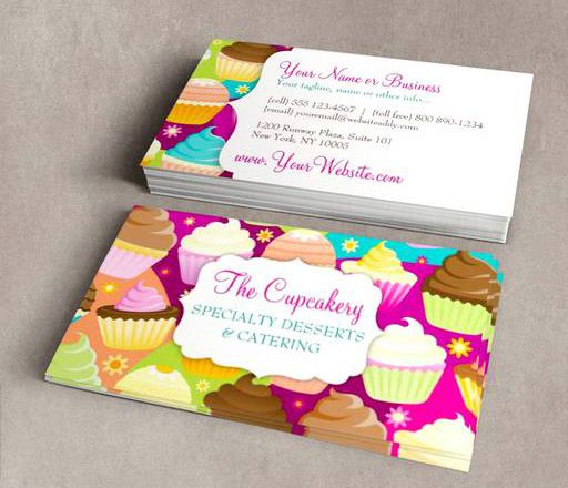 Colorful cupcakes business card templates this great business card colorful cupcakes business card templates this great business card design is available for customization all text style colors sizes can be modified to accmission Choice Image
