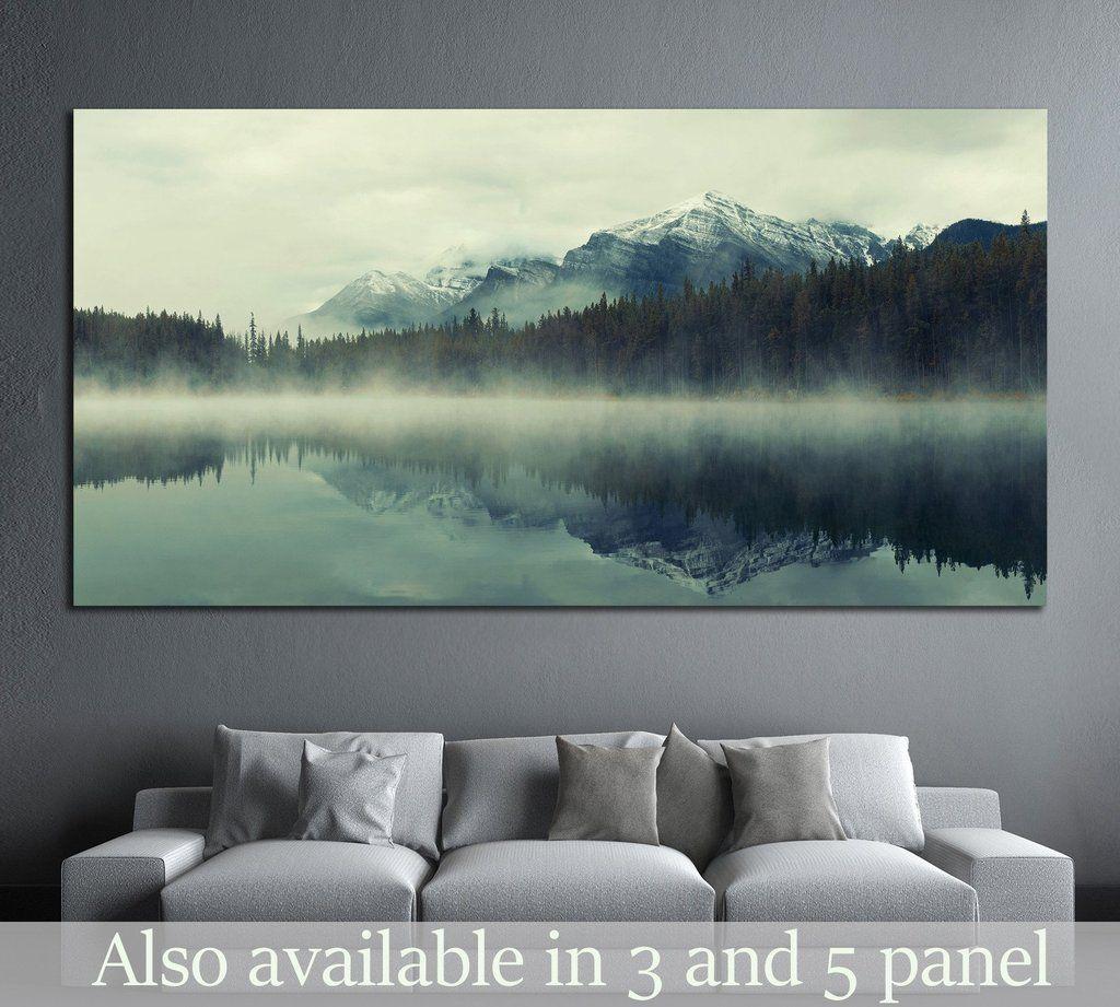 Lake Herbert Banff National Park Canada 877 Ready To Hang Canvas Print Nature Wall Art Nature Wall Water Color World Map