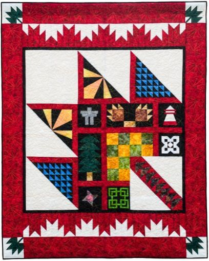Multi coloured Purely Canadian quilt - A Story Time Monday Post ... : canadian quilt - Adamdwight.com