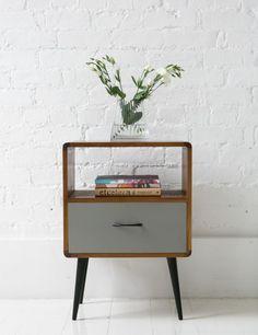 Retro Slaapkamer Ideeen.Mid Century Modern Bedside Table Google Search Vintage