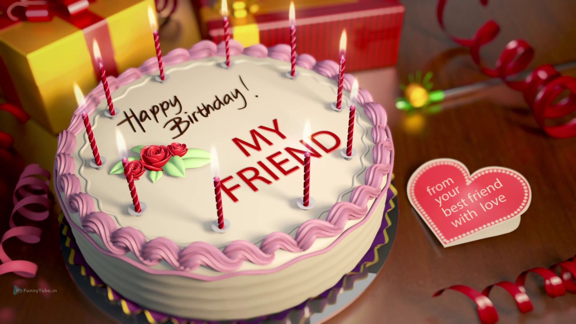 Whatsapp Video Happy Birthday Wish Video For Friend Happy Birthday Cakes Happy Birthday Video Birthday Cake Pictures