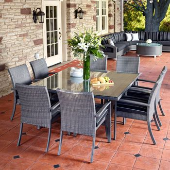 Costco Monaco 9piece Dining Set Outdoor furniture sets