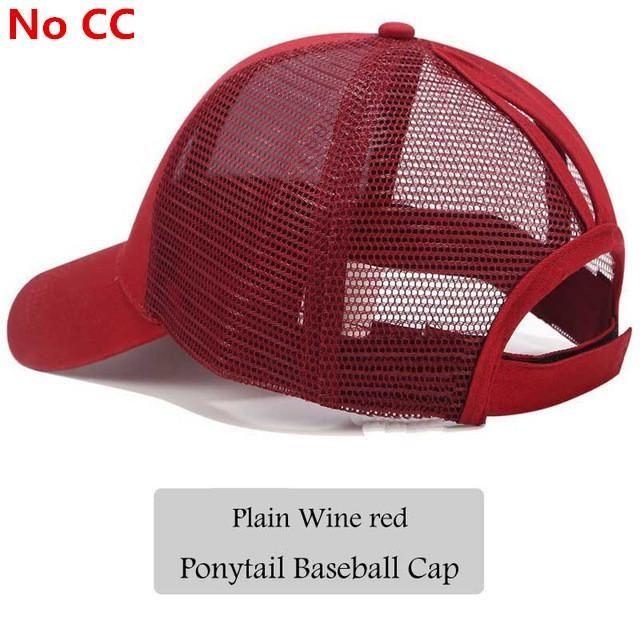 687c2b0938787 2018 CC Glitter Ponytail Baseball Cap Women Snapback Hat Summer Messy Bun  Mesh Hats Casual Adjustable Sport Caps Drop Shipping