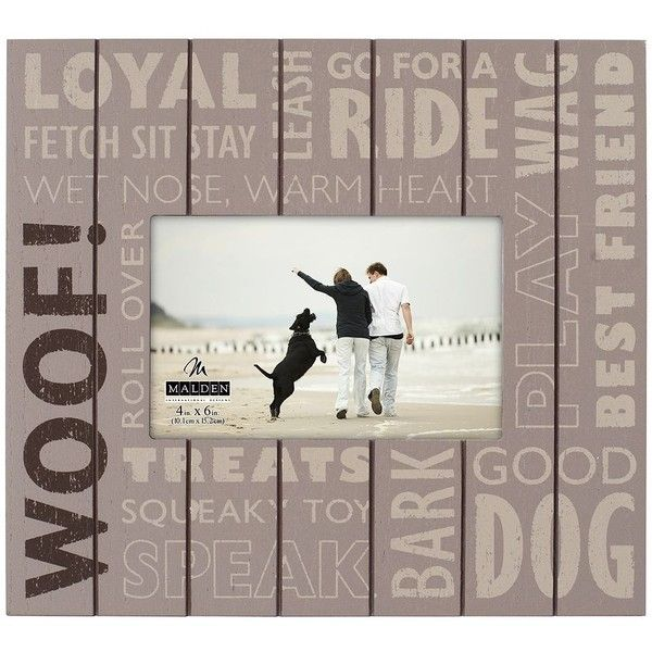 Malden Quot Woof Quot 4 X 6 Frame 24 Liked On Polyvore Featuring Home Home Decor Frames Brown