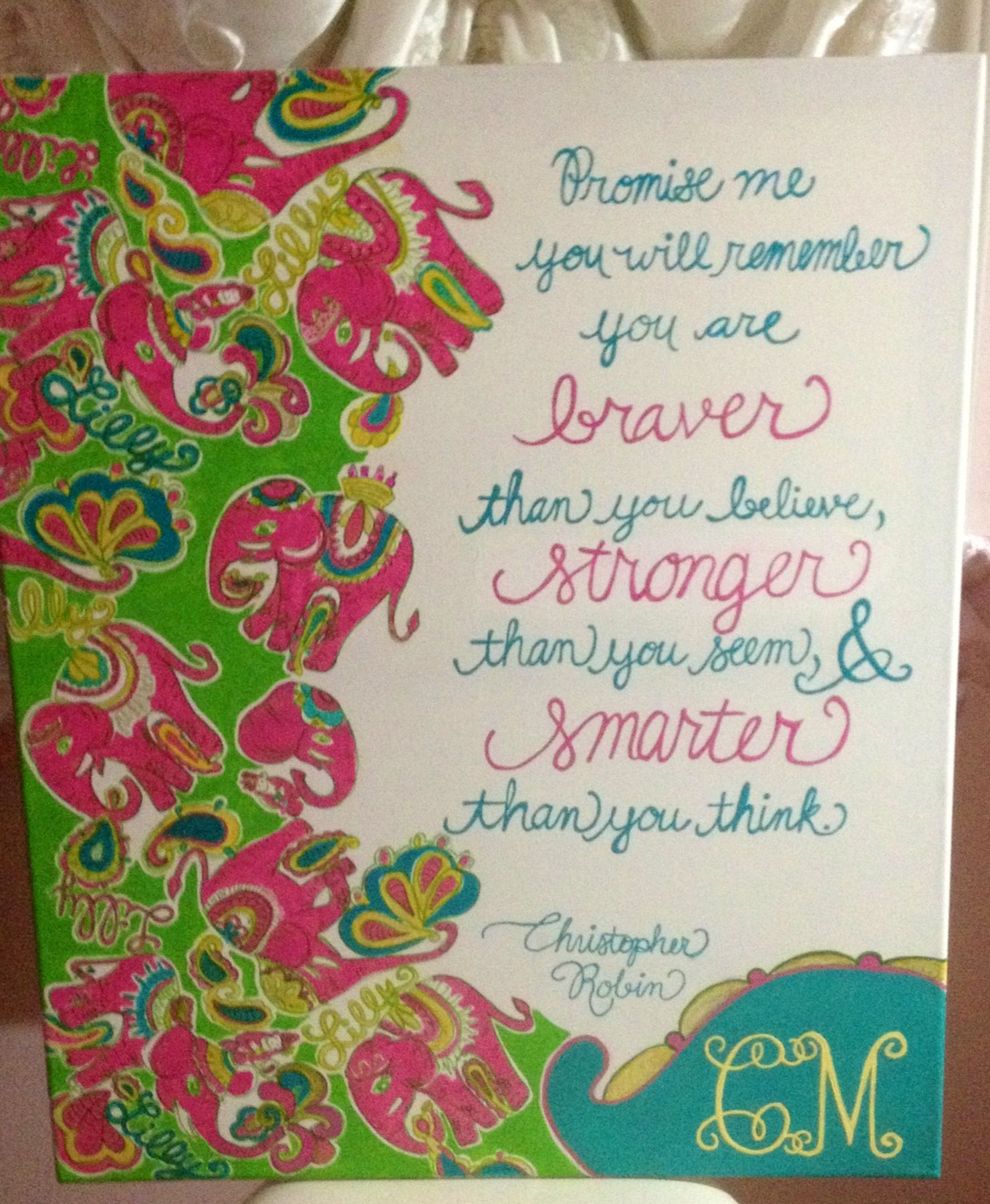 Life Canvas Quote Lilly Inspired Chin Chin Print With Glitter Detail Canvas