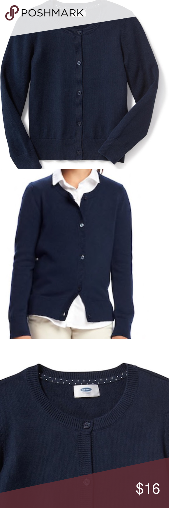 Girls old navy cardigan sweater | Navy uniforms, Rib knit and Navy