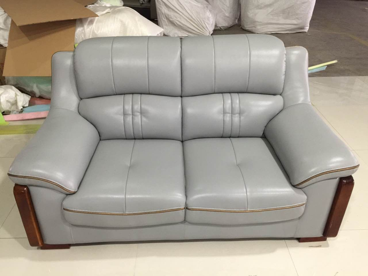 China Style Genuine Leather Two Seater Luxury Furniture Sofa Modern Furniture Living Room Corner Sofa Design