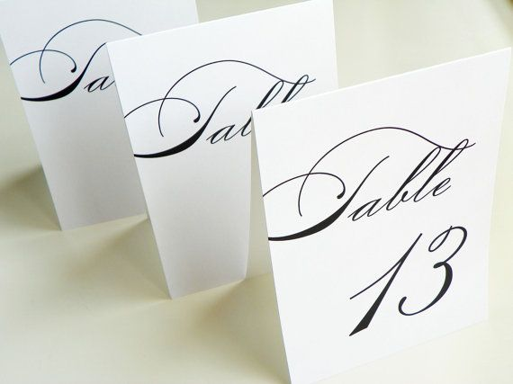 elegance table numbers table number tents by littlesparkcreations