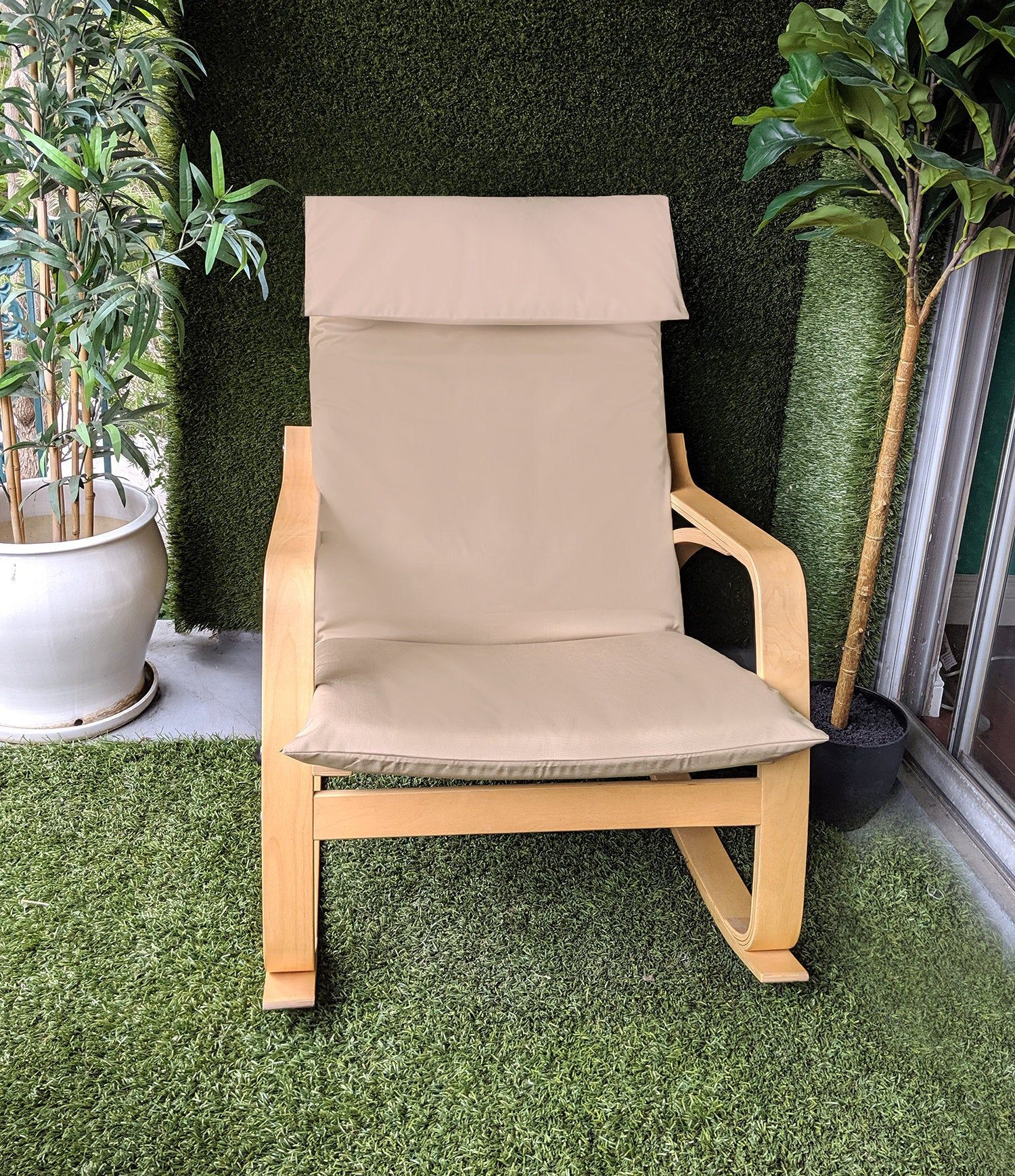Solid Tan Beige Ikea Poang Chair Cover Ikea poang chair