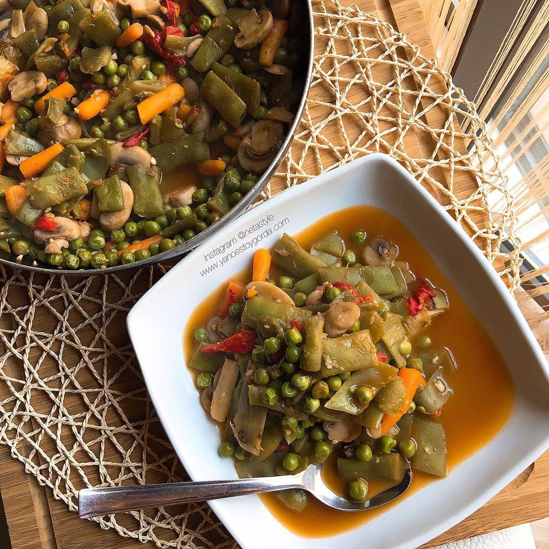 Caldoso De Menestra De Verduras Con Ajitos Y Pimientos Asados Menestra De Verduras Verduras Caldo De Pollo Casero