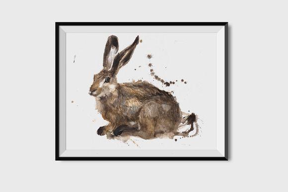 Rabbit watercolour illustration by Julia Bilenko on @creativemarket