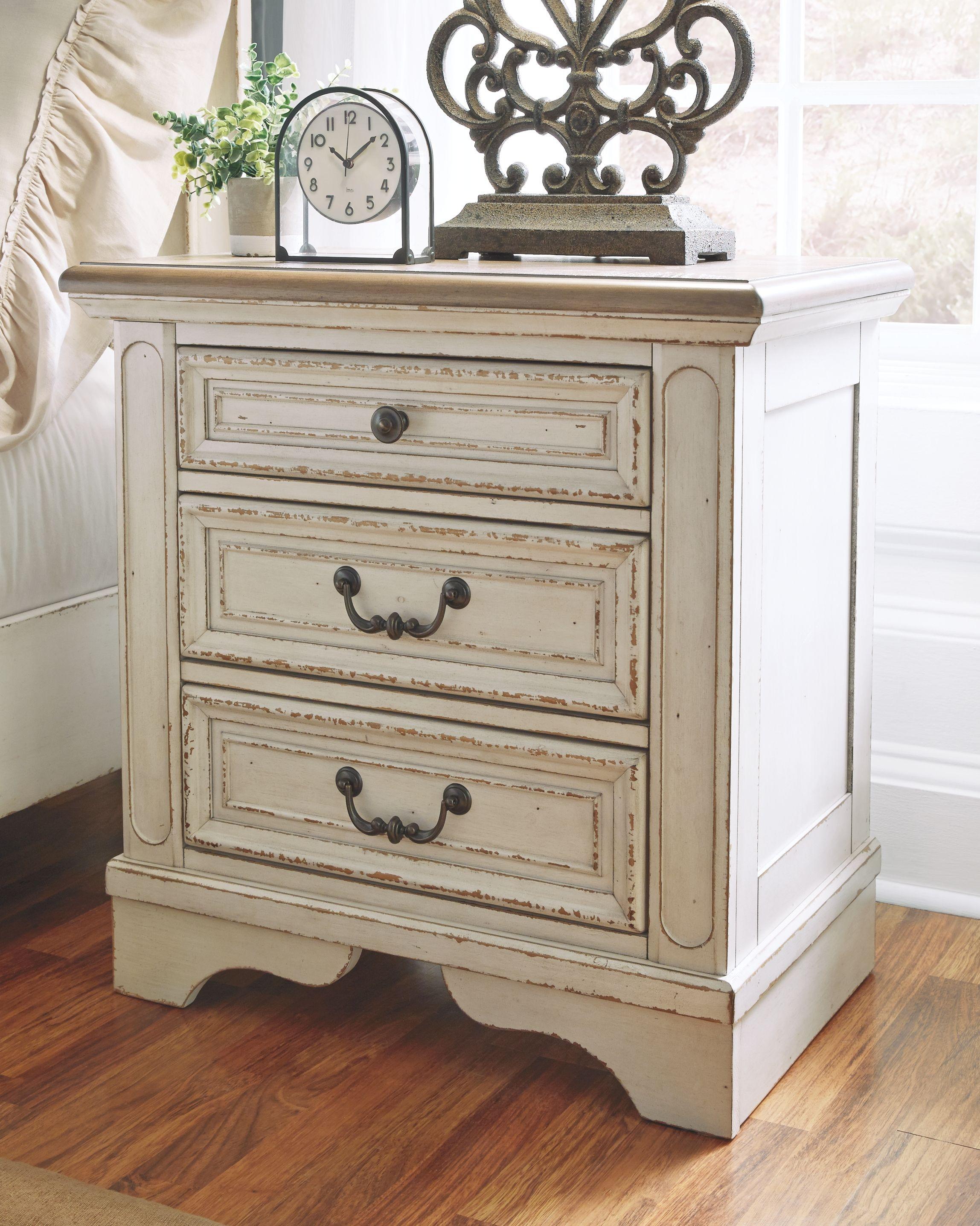 Realyn Nightstand | Shabby chic dresser, Furniture, Shabby
