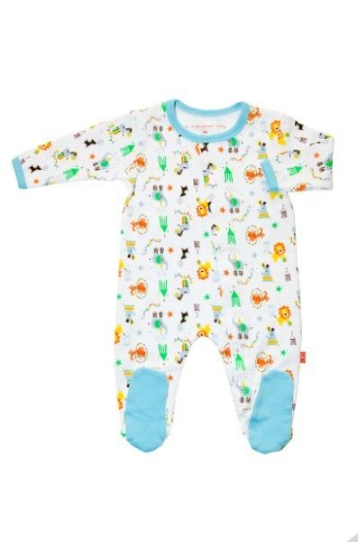 0f16f9154 Magnificent Baby Boy's Footie (Circus Days) - 9 Months (magnetic fasteners)