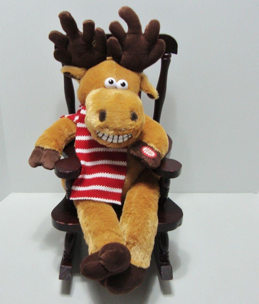 grandma got run over musical reindeer in rocking chair lights dandee see video dandee