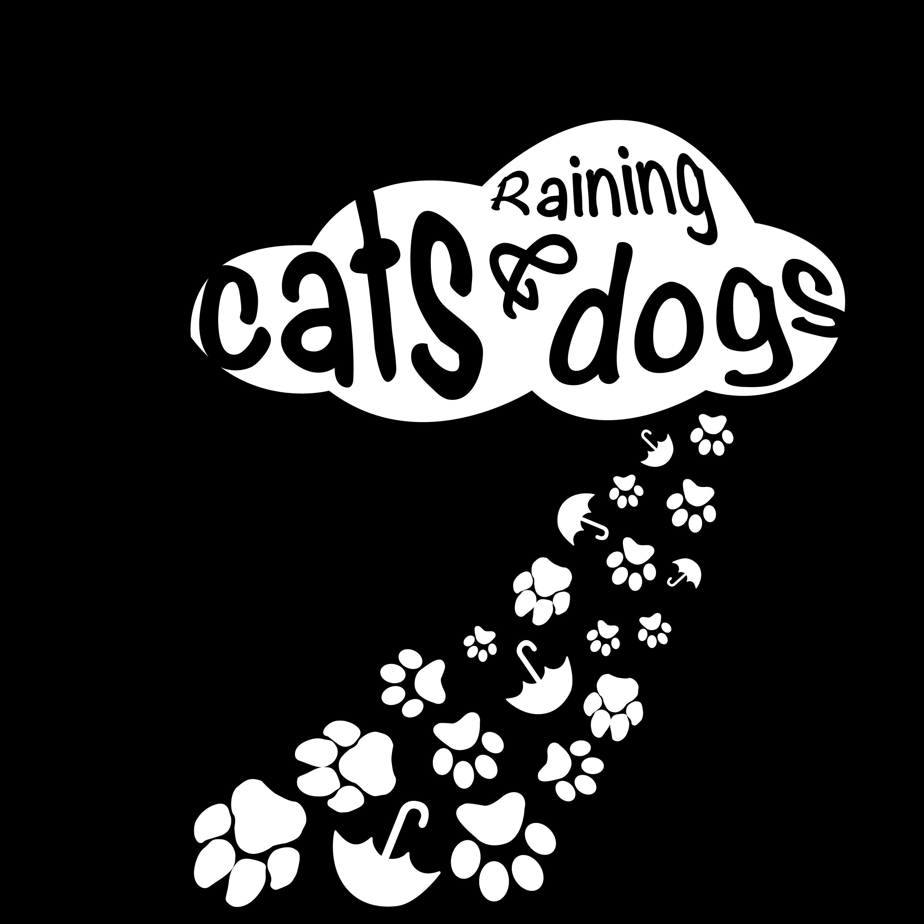 Raining cats & dogs. Digital print (SVG, PDF, Digital File