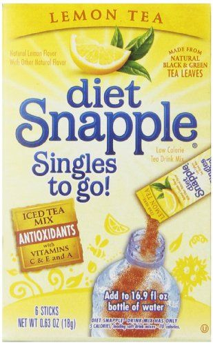 Diet Snapple Singles To Go Lemon Tea 6 Count Pack Of 12 Want To Know More Click On The Image Raspberry Tea Diet Snapple Tea Diet