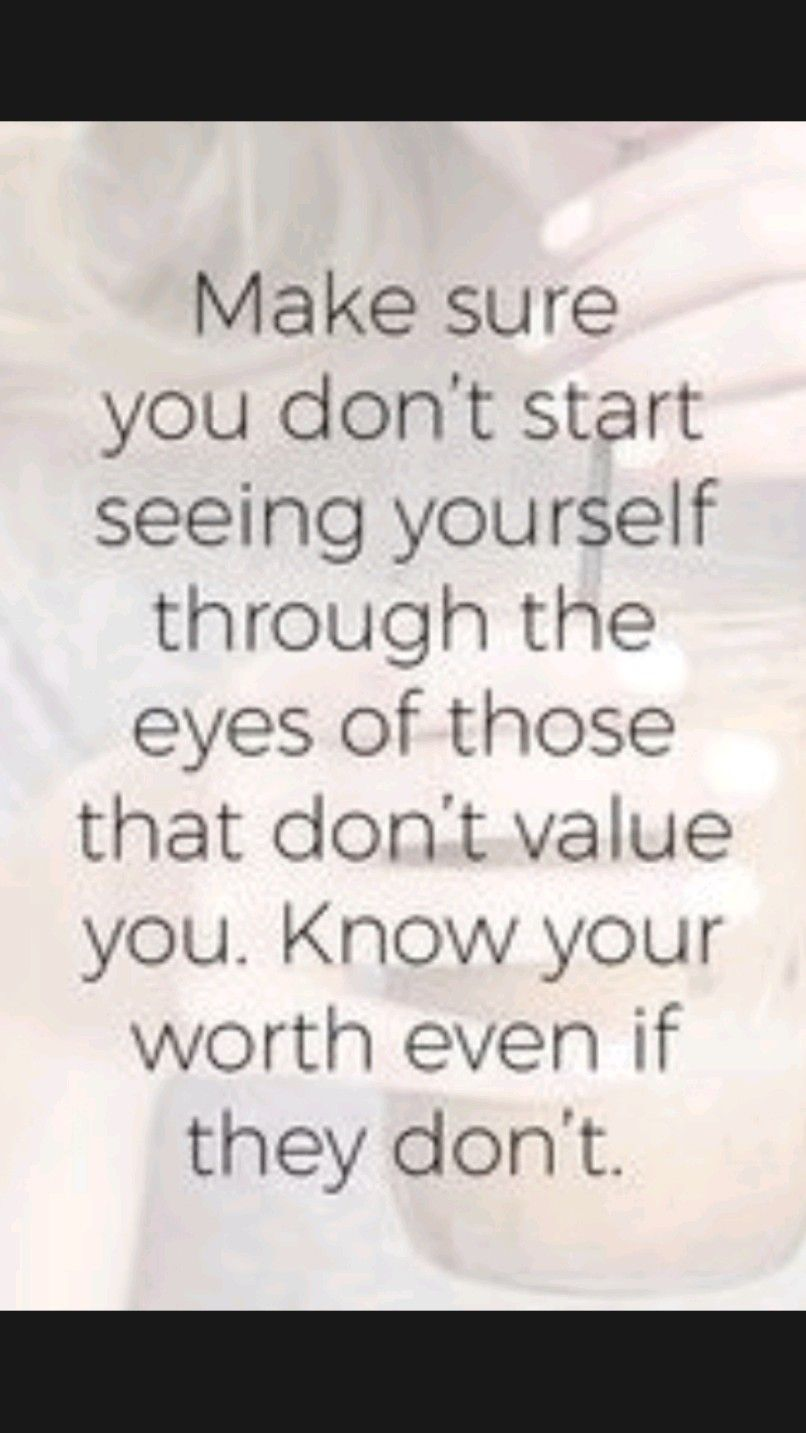 Know Your Own Value