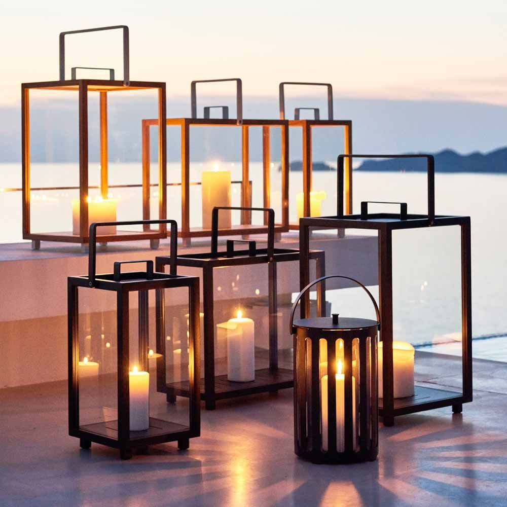 "Moderne Laterne Cane-line Laterne ""lighthouse"" (anthrazit) 