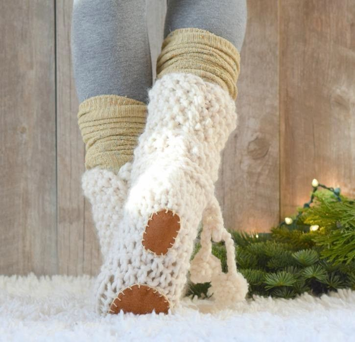Knit Kit Mountain Chalet Boot Slipper Yarns Crochet And Knit