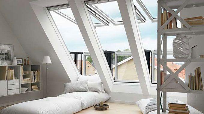 Grote dakramen batibouw interieur roof top lofts