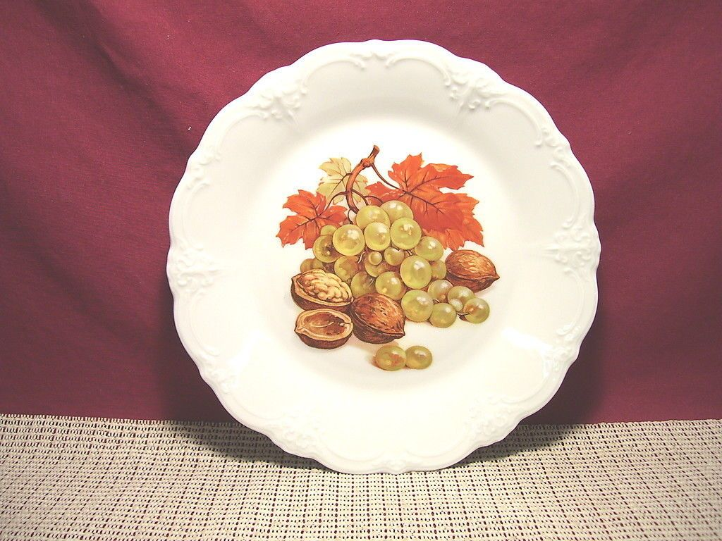 Tirschenreuth China Harvest Pattern Baronesse Shape Salad Plate Grapes   eBay