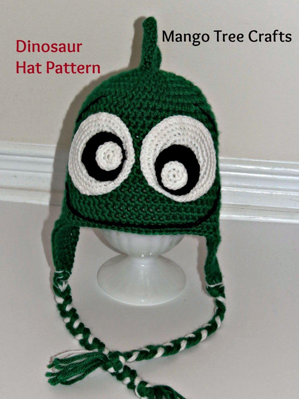Mango Tree Crafts: Crochet Dinosaur Hat Pattern | Crochet ideas and ...