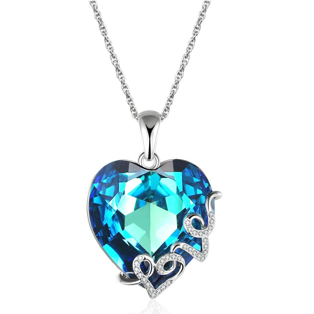 Valentines day love gifts for girlfriend heart shape swarovski valentines day love gifts for girlfriend heart shape swarovski crystal pendant necklace anniversary gift aloadofball Image collections