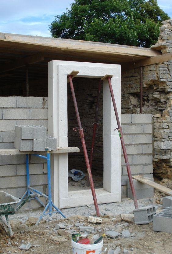 Encadrement béton monobloc pour porte fenêtre et porte d\u0027entrée