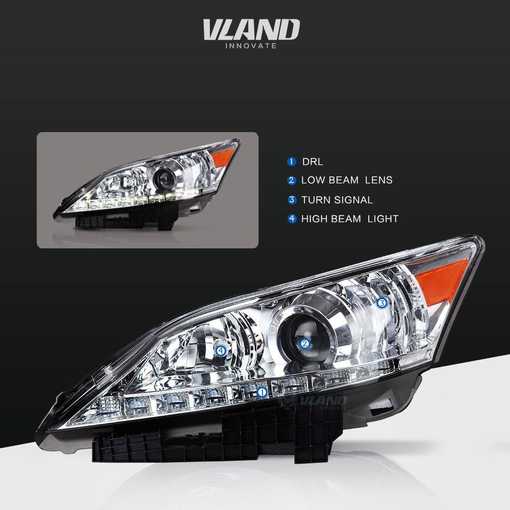 E Mark Ccc Ce Certification Vland Car Light For Lexus Es250 Es350 2007 2012 Headlights Vland Lexuses350headli Car Accessories Headlamp Motorcycle Accessories