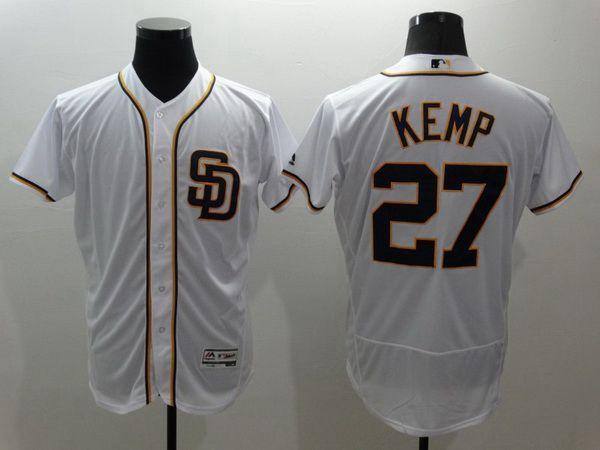 Men's San Diego Padres #27 Matt Kemp Gray Jersey