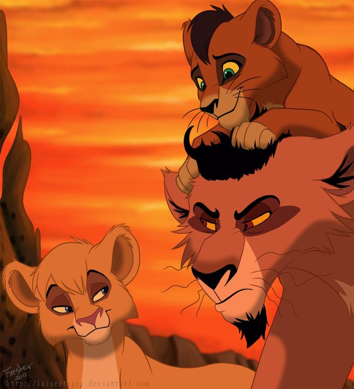Kovu, Nuka, and Vitani<3