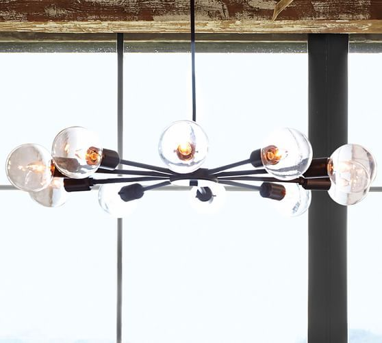 Mid Century Orb Chandelier Low Ceiling Lighting Dining