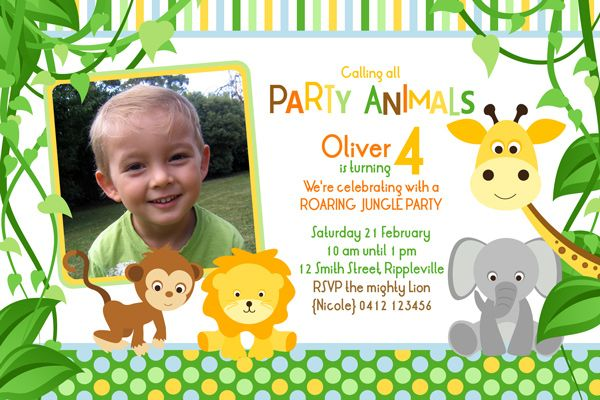 SAFARI THEME INVITATION WORDING Safari Theme Jungle First Birthday Invitations Invitation Wording