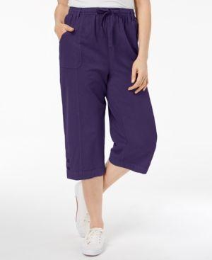 Karen Scott Cotton Pull-On Capri Pants