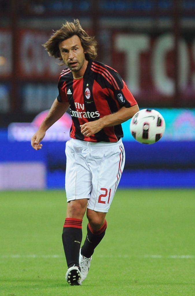 Andrea Pirlo Photos: AC Milan v Lecce - Serie A | Andrea pirlo, Ac milan, Milan football
