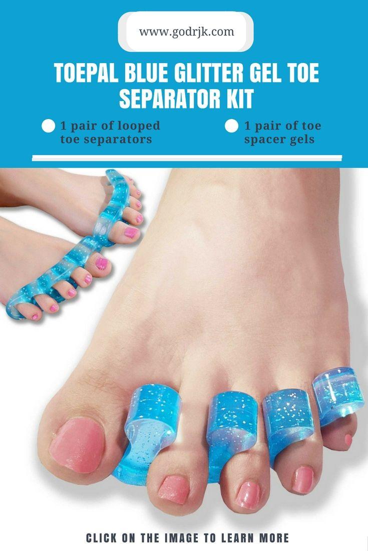 ToePal Blue Glitter Gel Toe Separator Kit | Toe Pain Relief ...