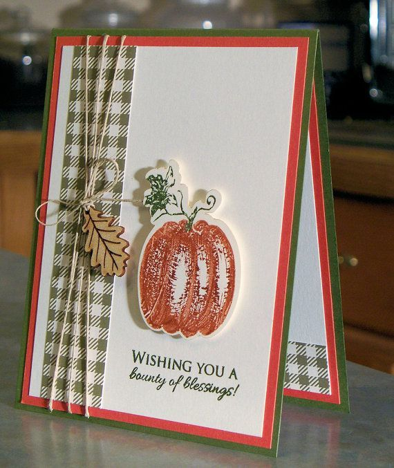 Ideas For Thanksgiving Cards To Make Part - 28: 1000+ Ideas About Handmade Thanksgiving Cards On Pinterest .