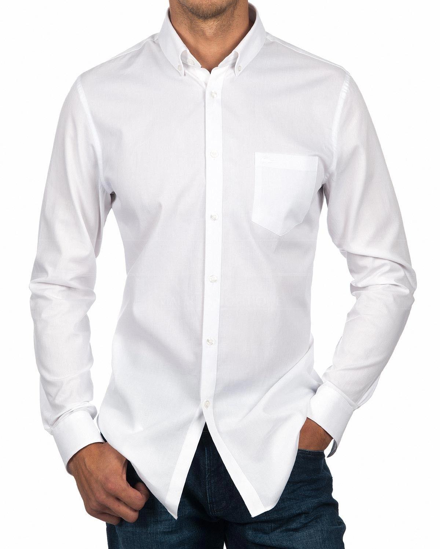 24fd395261a Camisa Lacoste Blanca - Manga Larga en 2019