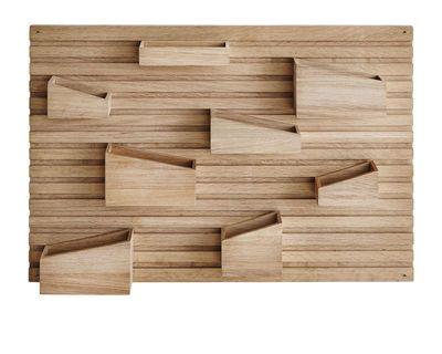 Woud Input Wall Storage Natural Wood Made In Design Uk Vide Poche Murale Rangement Mural Vide Poche