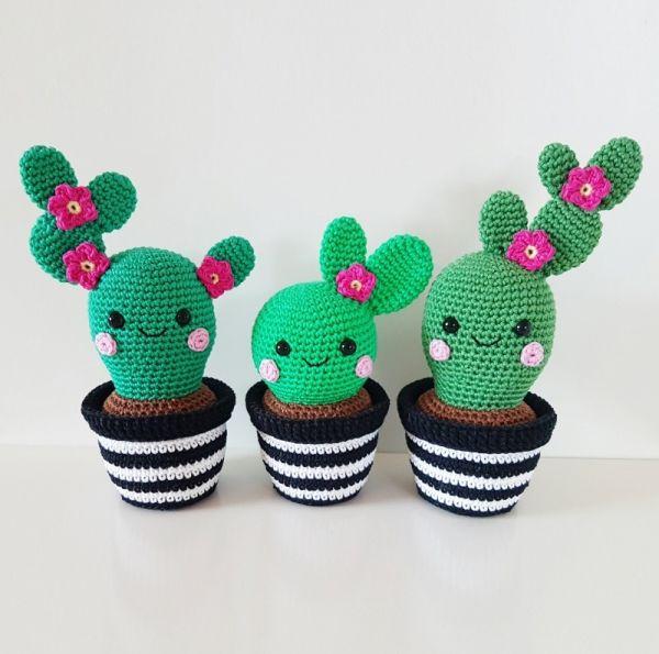 Cactus Friends amigurumi pattern by Super Cute Design | Ganchillo ...