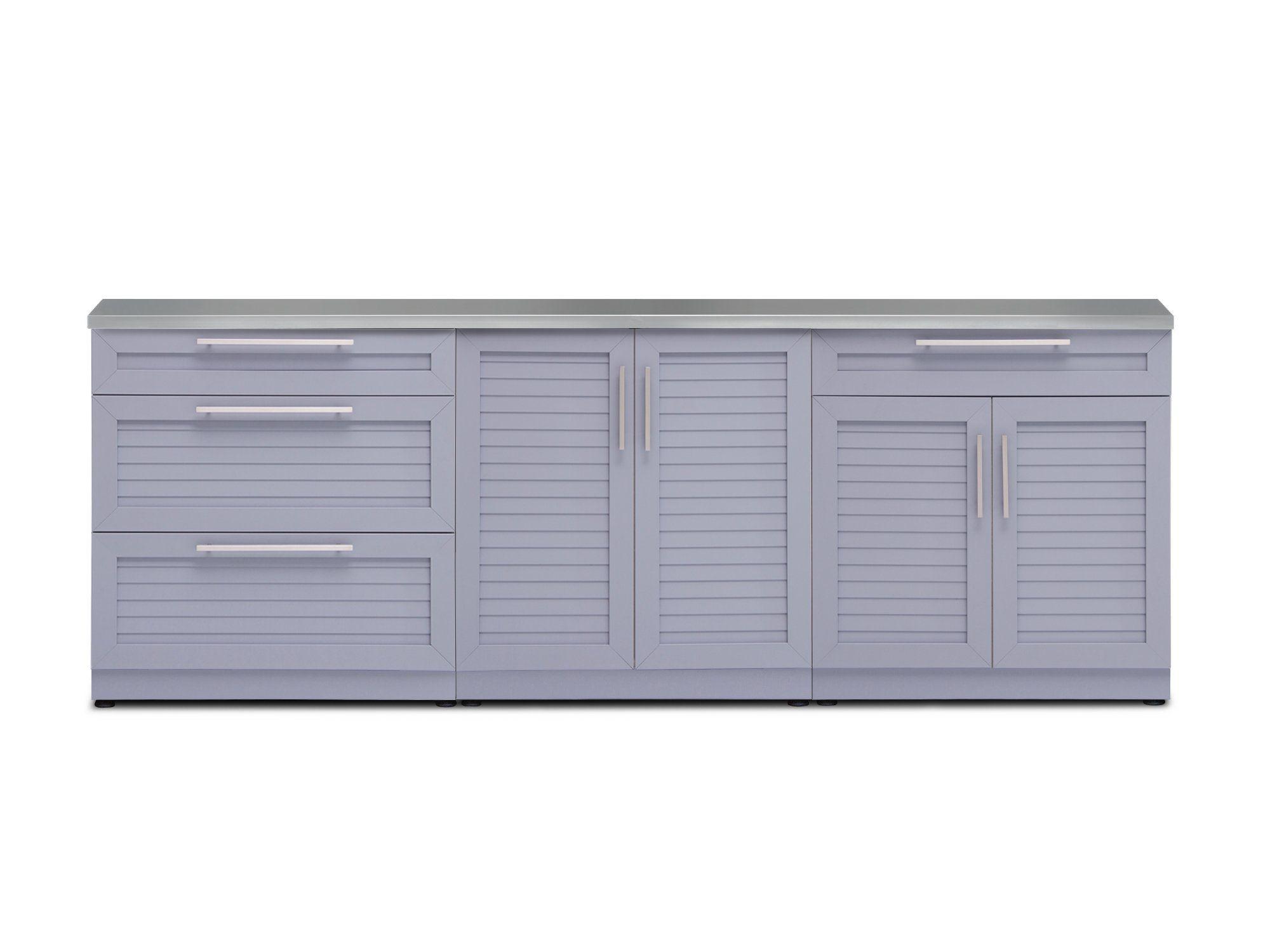 Aluminum Outdoor Kitchen Cabinets Kits Newage Products Us Outdoor Kitchen Cabinets Aluminum Kitchen Cabinets Outdoor Storage Cabinet