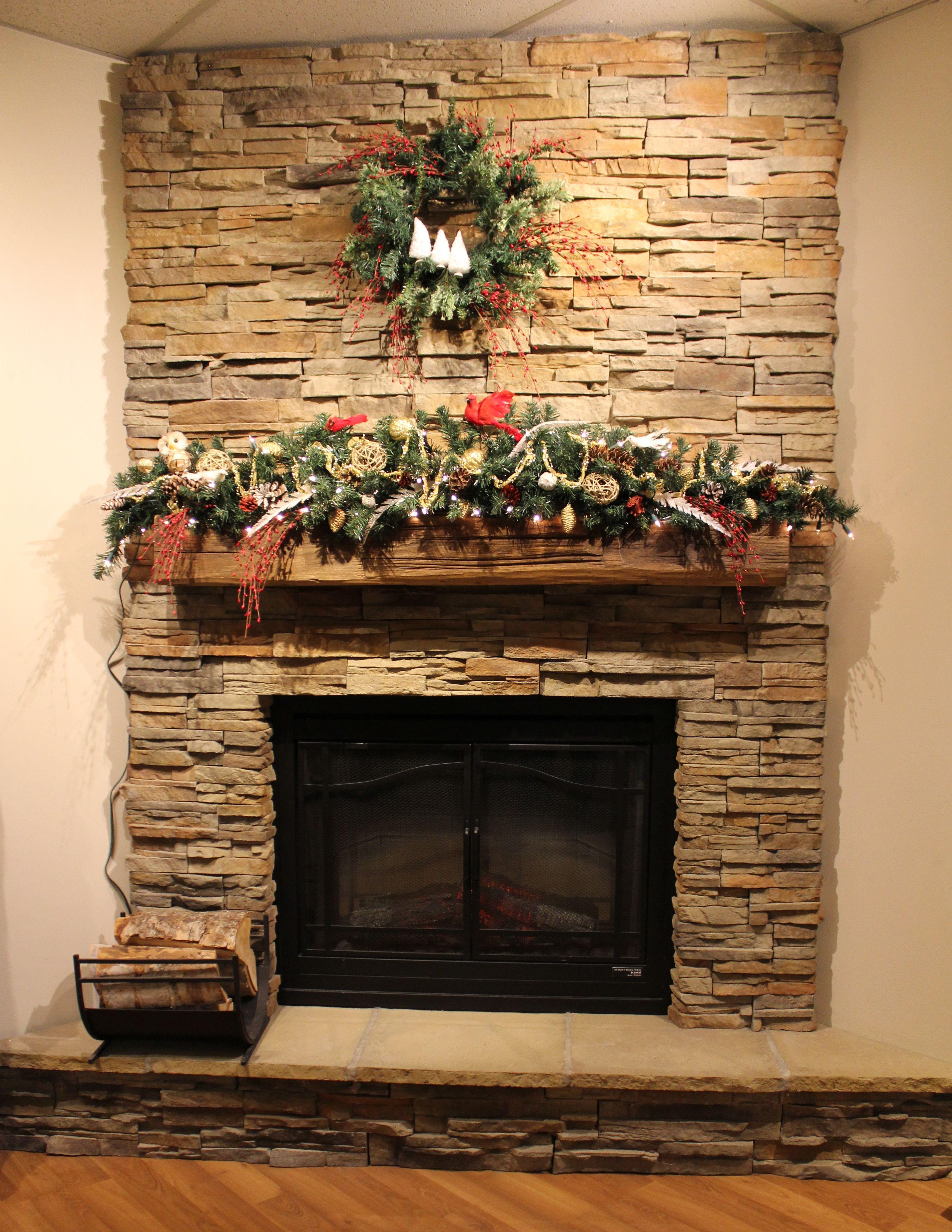 Holiday Mantel Decorating with Stone Selex - Timber Ledge Stone ...