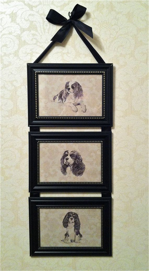 Cavalier King Charles Spaniel Dog Print Picture Frame Collage Wall ...