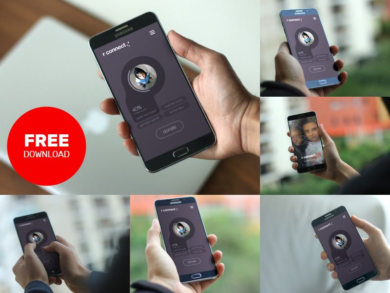 Mockup for android app
