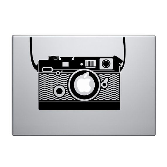 Vintage Camera Vinyl Decal Sticker To Fit Macbook Pro - Custom vinyl decals for macbook pro