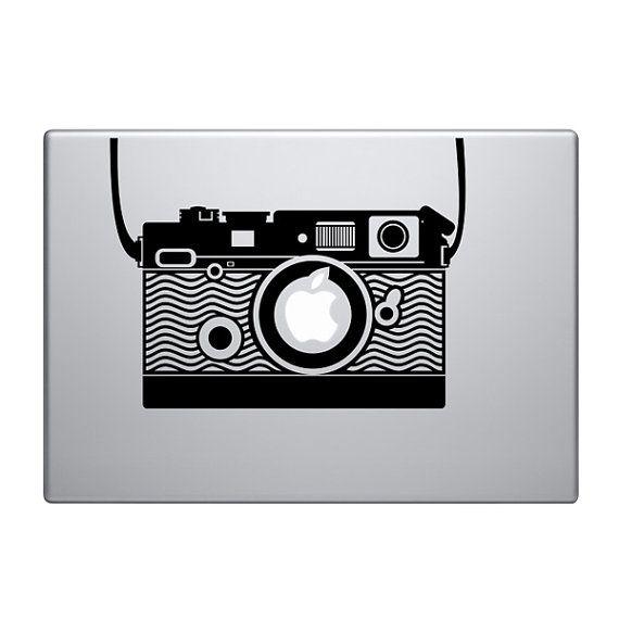 Vintage Camera Vinyl Decal Sticker To Fit Macbook Pro - Custom vinyl stickers macbook