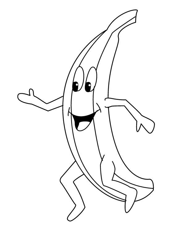 Happy Banana Coloring Page Shopkin Coloring Pages Cute Coloring