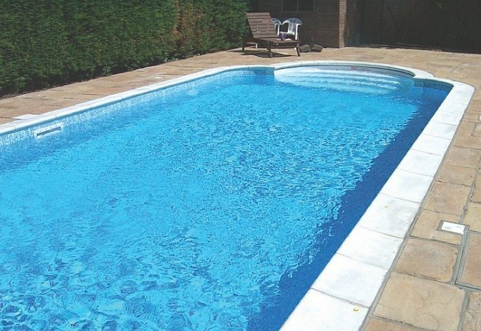 Swimming pool liners small yet lovely pool decoration for Domestic swimming pool design