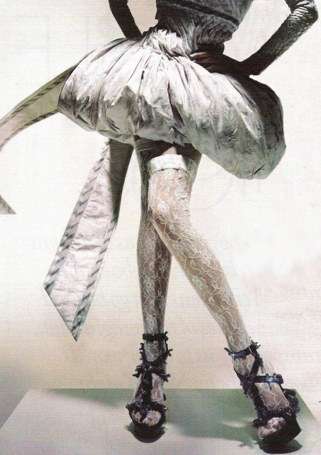 "Lily Donaldson wears Alexander McQueen Spring/Summer 2005 in ""Unbelievable Fashion"" for Vogue UK December 2008 photographed by Nick Knight"