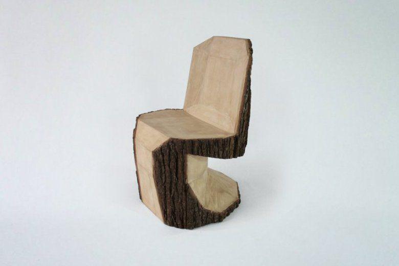Peter Jakubik. Chair, tree trunk. carved, sculpted. wood ...